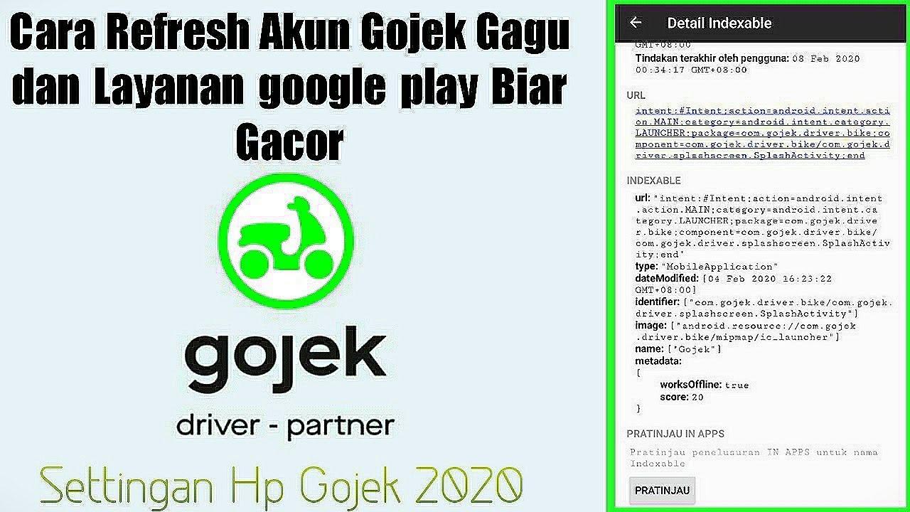 Settingan Hp Gojek 2020 Cara Refresh Akun Gojek Gagu Dan Layanan Google Play Biar Gacor Youtube