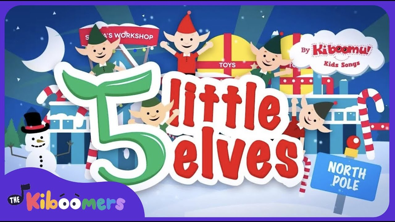 5 Little Elves | Kids Christmas Songs | Santa Claus | Christmas ...