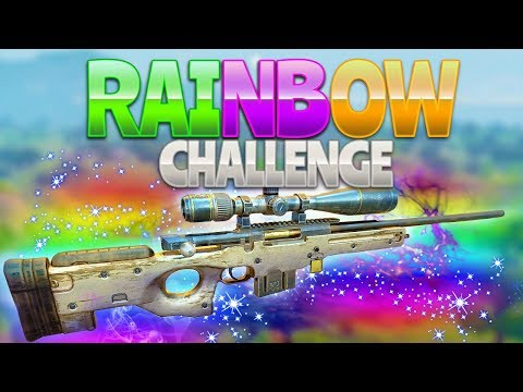 RAINBOW CHALLENGE (Fortnite Battle Royale)