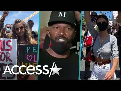 Nick Cannon, Jamie Foxx & More At The George Floyd Protests