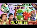 GIANT EASTER EGGS SURPRISE - ZOOTOPIA SHOPKINS TMNT & PVZ - w/ Minecraft Ethan, Emma, Aubrey & Aaron
