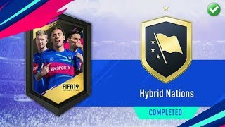 Hybrid Nations SBC Completed - Cheapest Possible - Fifa 19