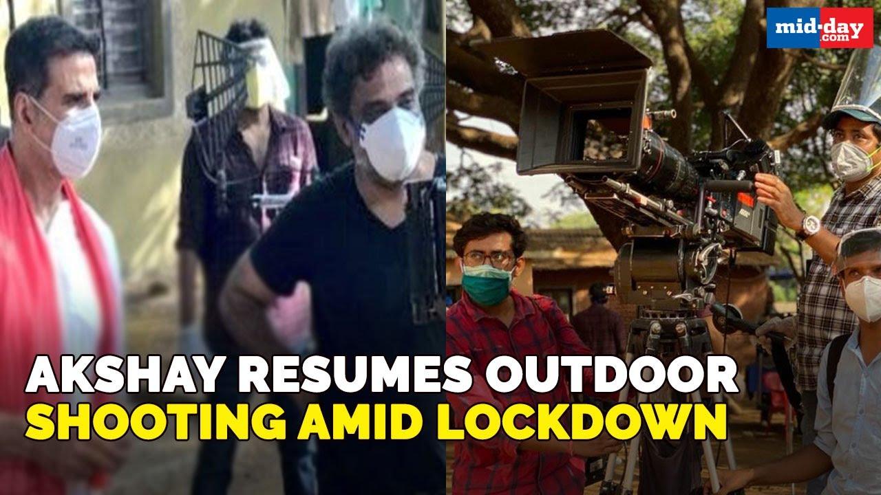 Akshay Kumar resumes outdoor shooting amid lockdown