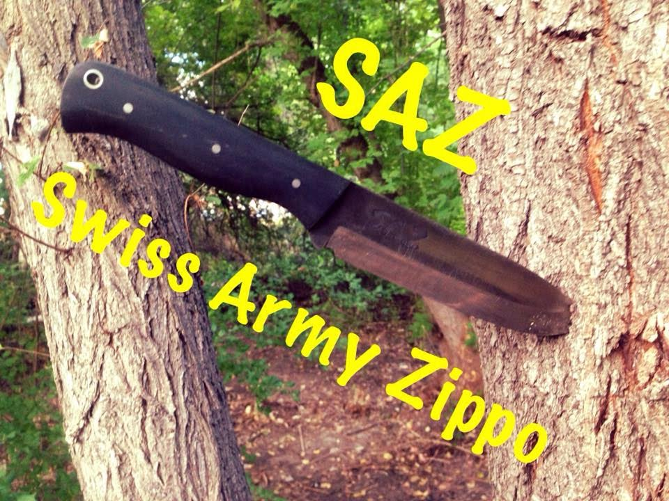 Saz Swiss Army Zippo Knife Fire Striker Kydex Modification