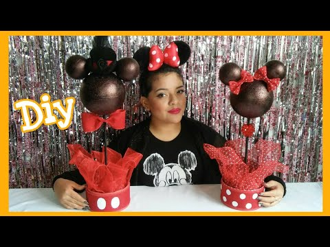 Centro de Mesa de Minnie y Mickey Mouse / DIY Minnie Mouse & Mickey Mouse Centerpieces