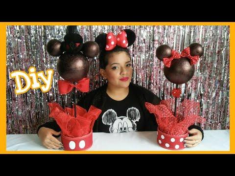 Centro de Mesa de Minnie y Mickey Mouse / DIY Minnie Mouse & Mickey Mouse Centerpieces
