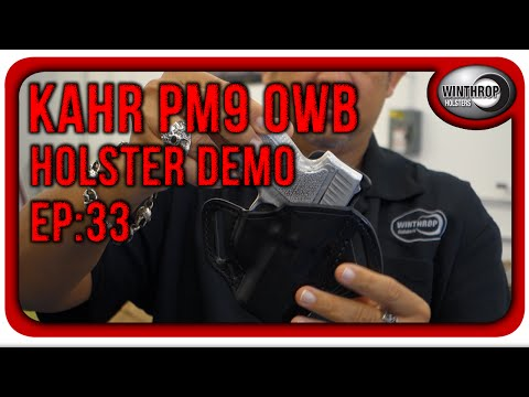 Winthrop Holsters Kahr PM9 OWB Leather Holster Demo - YouTube