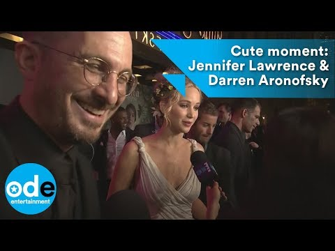 Cute moment: Jennifer Lawrence & Darren Aronofsky