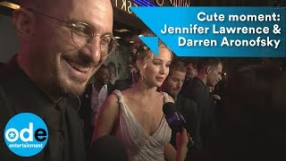 Cute moment: Jennifer Lawrence & Darren Aronofsky