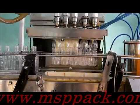 Fully Automatic Synthetic Juice, soda, oil Filling capping and sleeve shrinking Machine