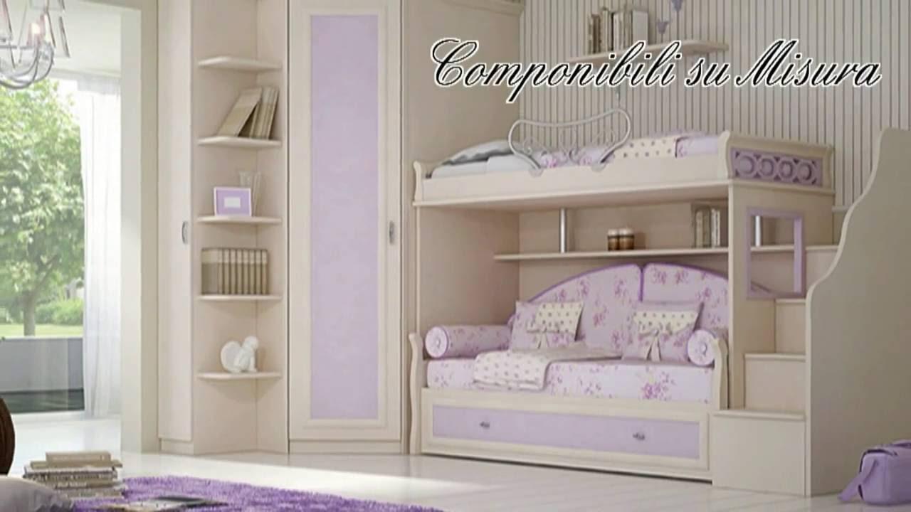Camerette per bambine e ragazze soppalco classiche mobili cannata youtube - Camerette classiche per bambini ...