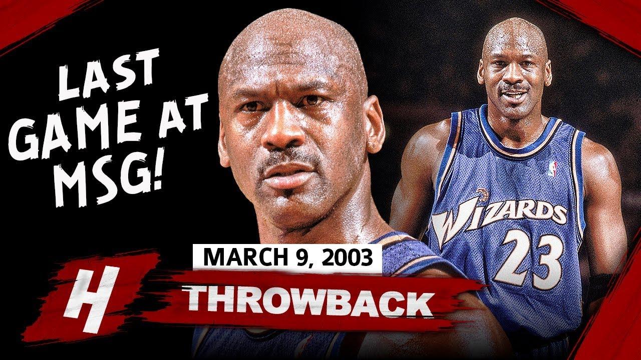 40 Yr-Old Michael Jordan Full Highlights vs Knicks (2003.03.09) - 39 Pts, Last Game At MSG!