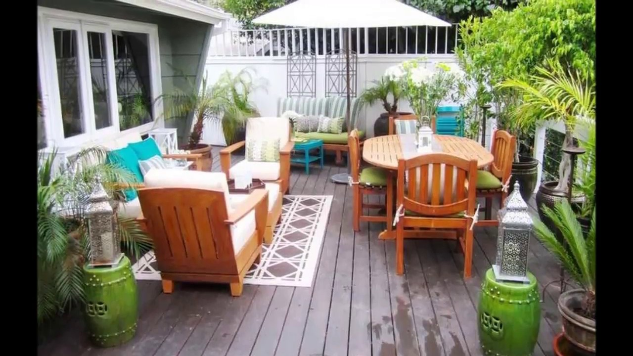 36 Patio Decorating Ideas on a Budget - YouTube on Patio Decor Ideas Cheap id=17837