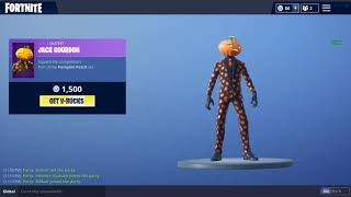 PEAU JACK GOURDON ! (Fortnite Item Shop 19 octobre)
