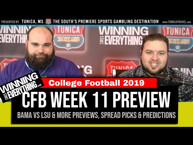 WCE: College Football Week 11 Preview & Spread Picks