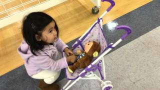 Toys R US Shopping with Olivia Toddler pushing a Stroller Kids Playing
