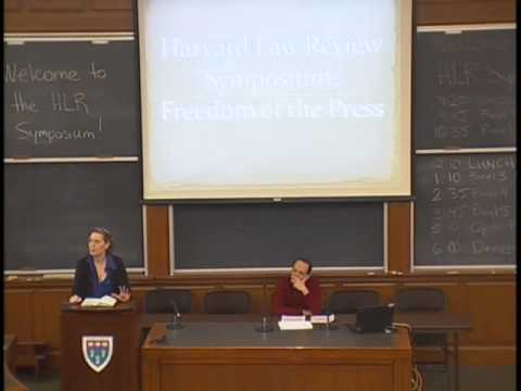 Harvard Law Review Symposium 2014: Freedom of the Press, Symposium Introduction and Panel
