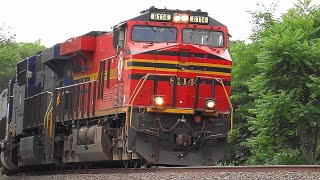 Pair of Norfolk Southern Hertiage Units Lead Cabless Yard Slug