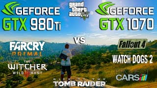 Скачать GTX 980 Ti Vs GTX 1070 Test In 7 Games I5 7600k