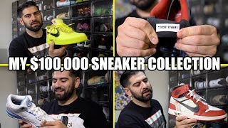 MY ENTIRE $100,000 SNEAKER COLLECTION!! *BEST ON YOUTUBE*
