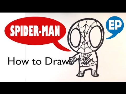 how to draw a cute spider