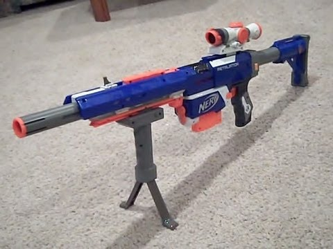 new nerf n strike elite custom sniper retaliator rifle gun w ar removal mod youtube. Black Bedroom Furniture Sets. Home Design Ideas
