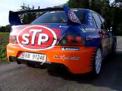Mitsubishi Lancer Evo IX (on stage-test day)
