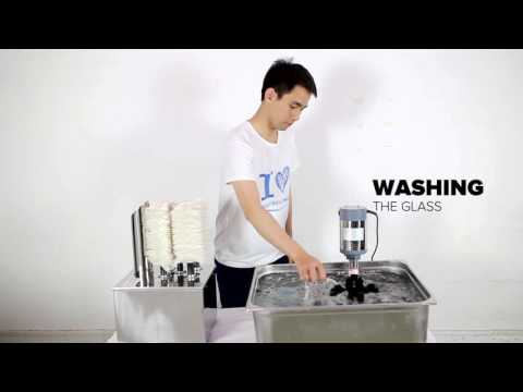 Easy Operate Glass Washer And Dryer For Bar