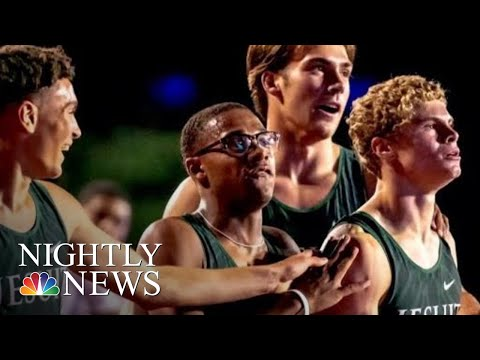Track Star Goes From High School Commencement To Olympic Training | NBC Nightly News