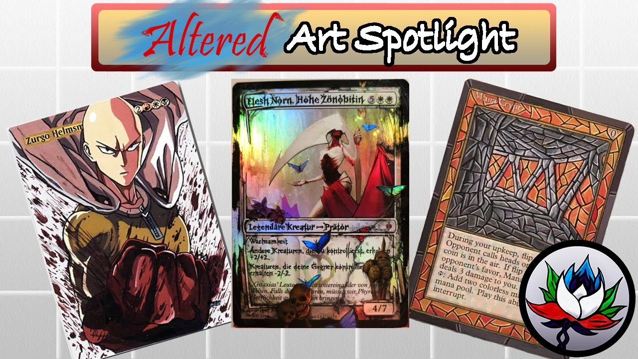 MTG NEW Altered Art One Punch Man Power 9 Fire Emblem And More