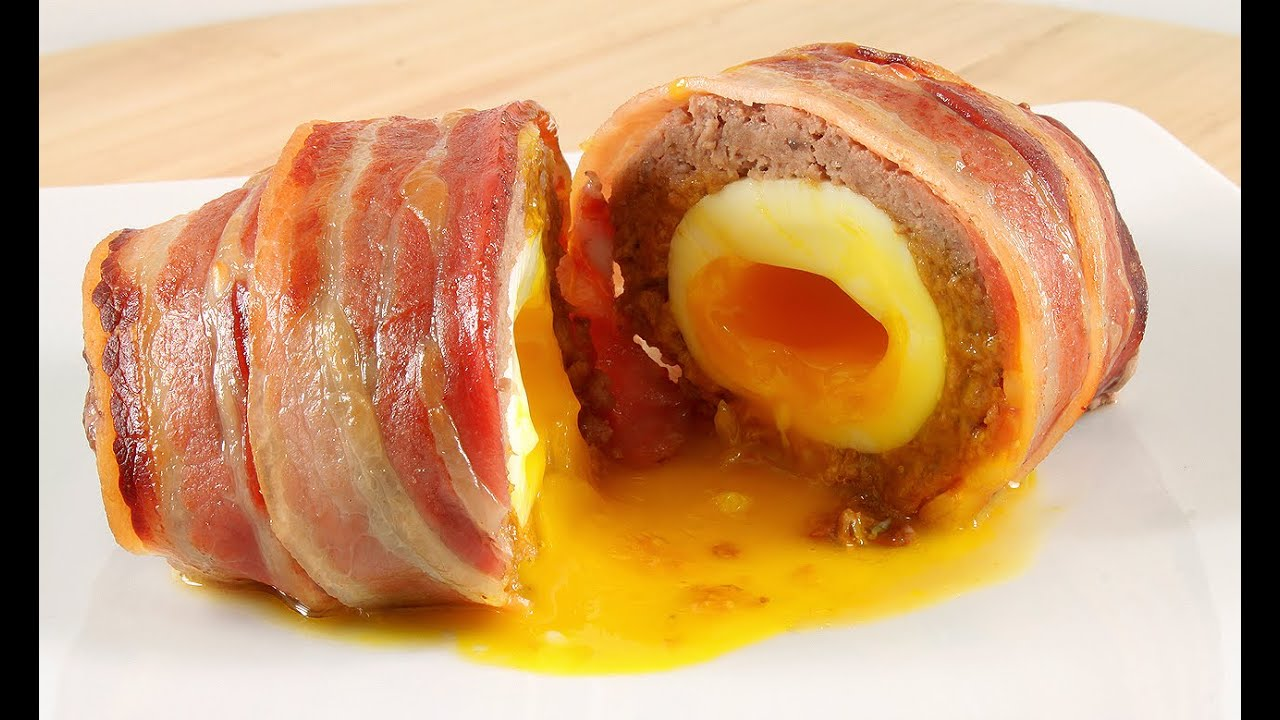 Baked SCOTCH EGGS With Bacon YouTube