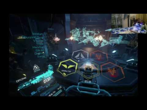 playing EVE Valkyrie on PS VR