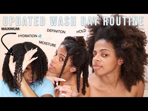 UPDATED Wash Day Routine for My Low Porosity, High Density Type 4 Hair | BEST Wash & Go Yet ???