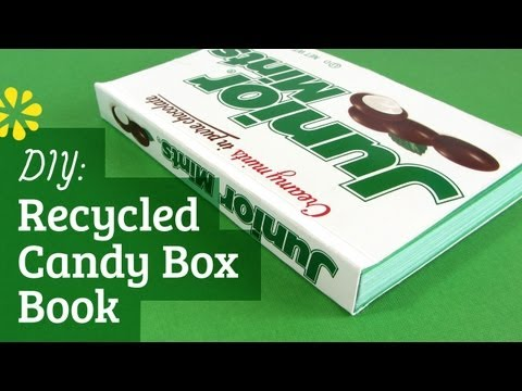 DIY Recycled Candy Box Book | Perfect Bookbinding Tutorial | Sea Lemon