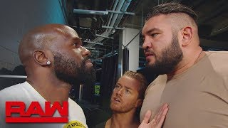 Rezar confronts Apollo Crews in the locker room area: Raw, Feb. 4, 2019