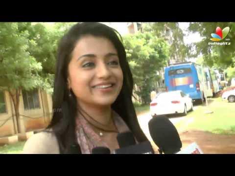 Trisha: I'm like vinnaithandi varuvaya jessie in real life | Boologam Movie Shooting Spot