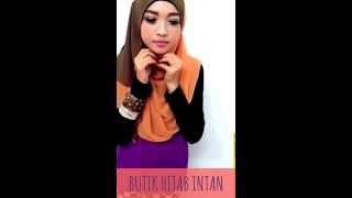TUTORIAL 2 TONE SHAWL by butik hijab intan