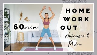60 Minuten Workout für Zuhause - 800 Kalorien verbrennen - Mit WARM UP
