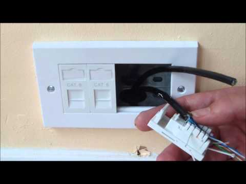 How to install ethernet sockets to a room