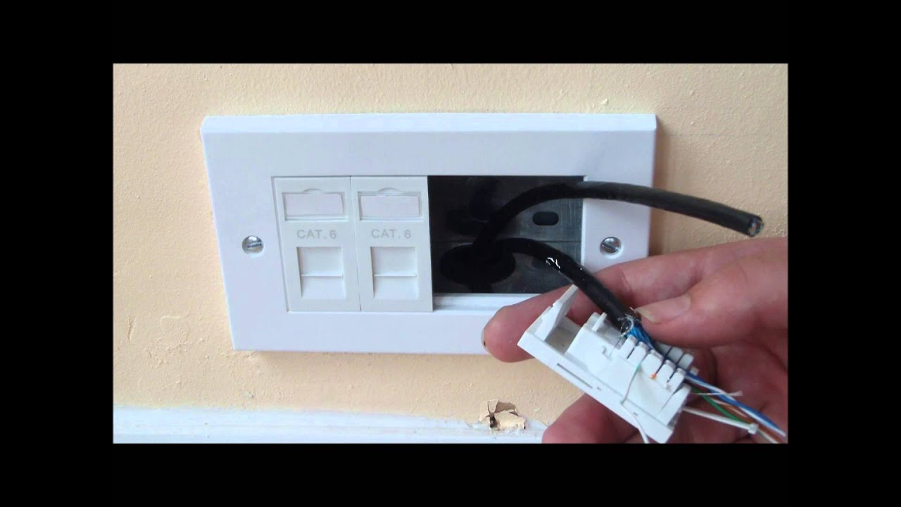 How to install ethernet sockets to a room - YouTube