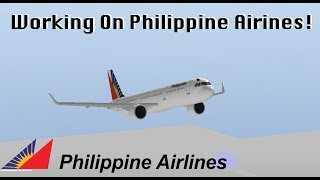 ROBLOX - France Travailler sur Philippine Airlines (fr) Vol A321!