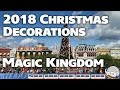 Christmas Decorations 2018 at the Magic Kingdom in 4K 60fps - Walt Disney World