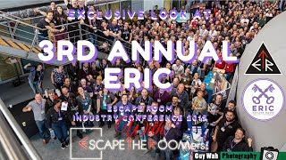 ESCAPETHEROOMers at the 3rd Annual UK Escape Room Industry Conference (ERIC 2019) in London, UK!