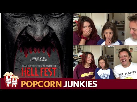 Hell Fest Official Trailer - Nadia Sawalha & Family Reaction & Review