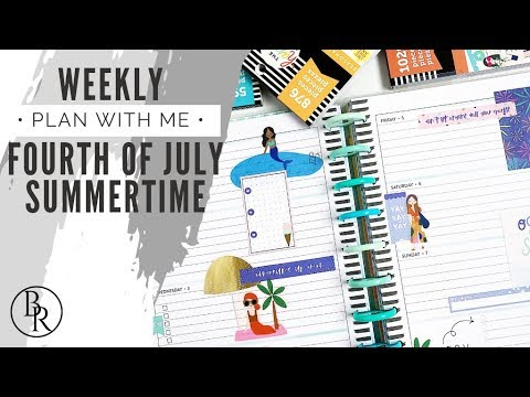 Plan with Me: Fourth of July Summertime | Plans by Rochelle