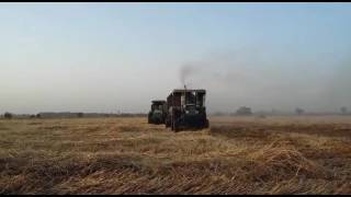 sonalika and preet on straw reaper