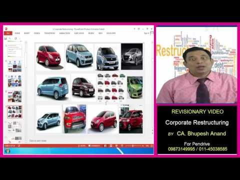 Revisionary Video Of Corporate restructuring CA / CMA /CS /B.Com /MBA/ BBA