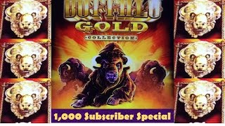 Buffalo Gold Slot Machine - BIG WIN! - 1K Subscriber Special!
