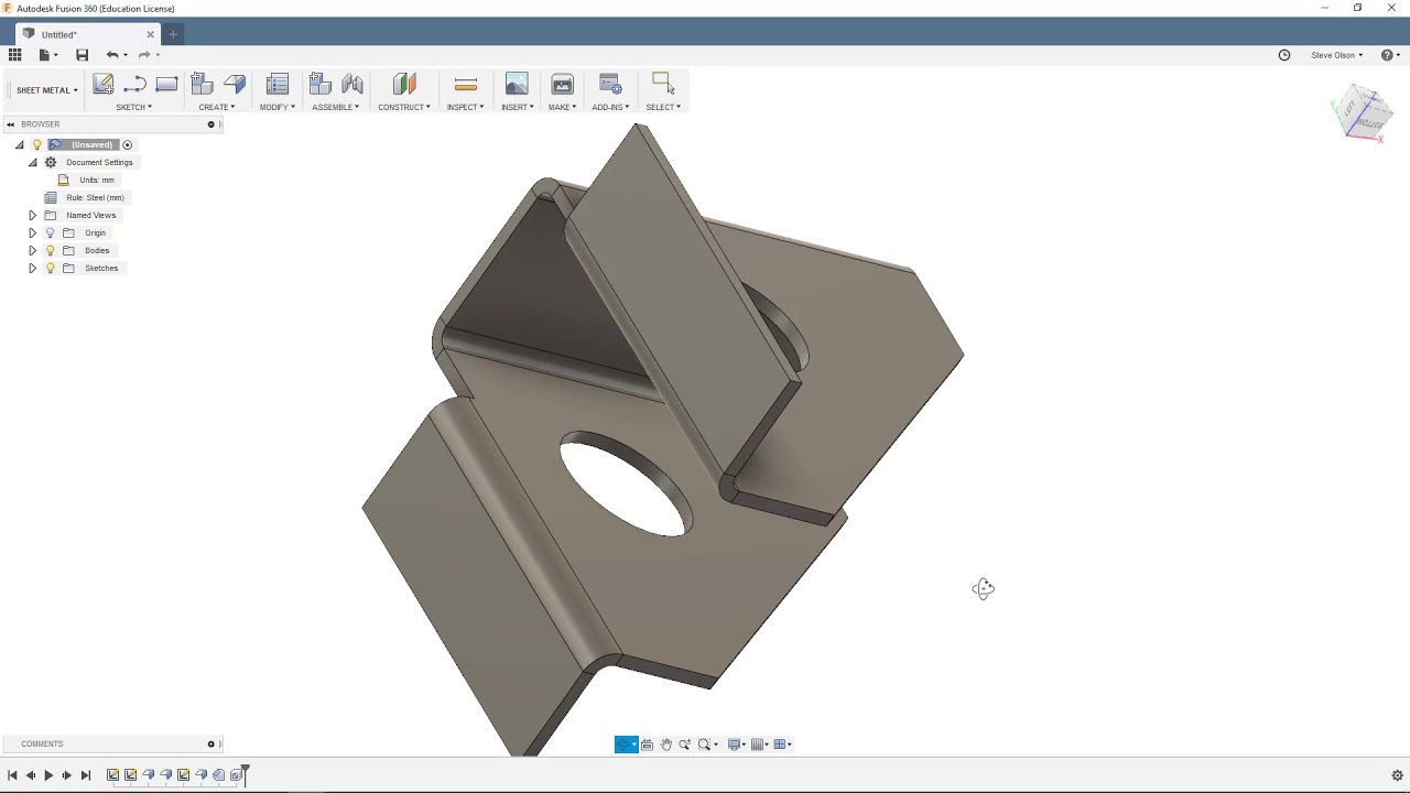 Sheet Metal Modeling In Fusion 360