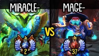Miracle- Morphling vs MagE- Storm Spirit Insane Battle Top EU Ranked Dota 2